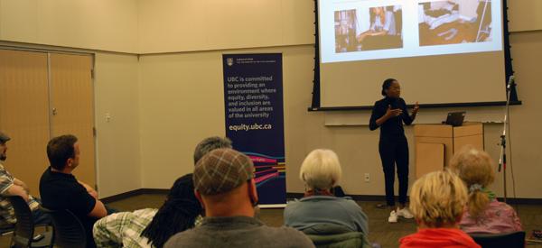 """I'm New Here"" presentation by Irene Fubara-Manuel at the Vernon Library"